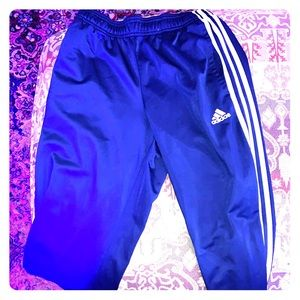 Adidas blue track pants